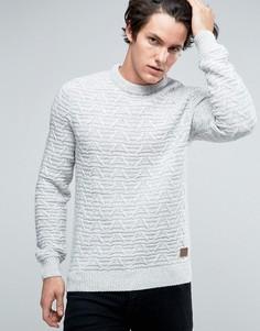 Джемпер крупной вязки в косичку Threadbare - Белый