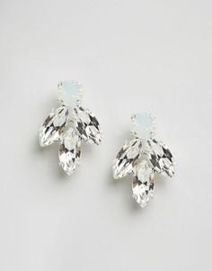 Серьги с кристаллами Swarovski Krystal - Прозрачный