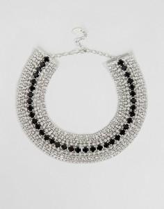 Эффектное ожерелье с кристаллами Swarovski от Krystal - Золотой