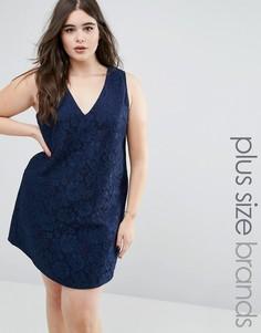 Кружевное платье AX Paris Plus - Темно-синий