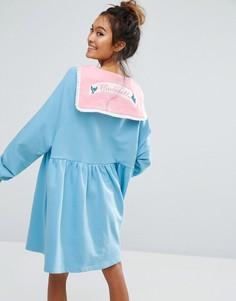 Платье-футболка Lazy Oaf X Disney Cinderella - Синий