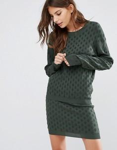 Вязаный пуловер Y.A.S Ginger - Зеленый