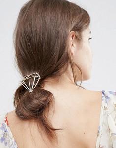 Заколка для волос с силуэтом алмаза Orelia - Золотой
