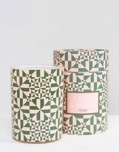 Свеча с ароматом имбиря Monki - Розовый