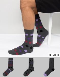 Темно-серые носки в горошек Pringle - Серый