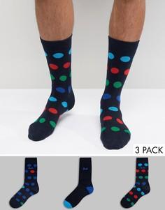 Темно-синие носки в горошек Pringle - Синий