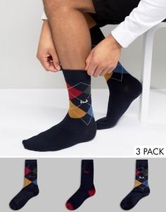 Подарочный набор из 3 пар темно-синих носков Pringle Waverley - Темно-синий