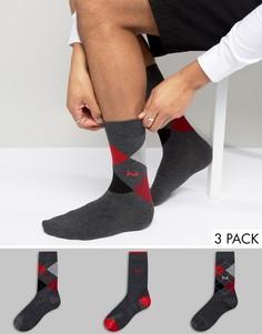 Подарочный набор с 3 парами серых носков Pringle Waverley - Серый