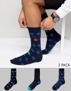Подарочный набор с 3 парами полосатых носков Pringle - Темно-синий
