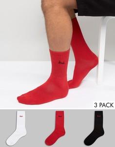 3 пары красных носков Pringle - Мульти