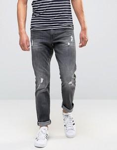 Узкие джинсы с потертостями Esprit - Серый