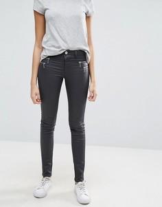 Вощеные джинсы с покрытием Only Olivia - Серый