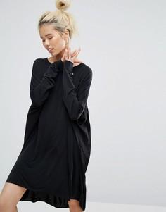 Платье Weekday Peach Feel - Черный