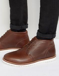 Светло-коричневые кожаные ботинки чукка Red Tape - Рыжий