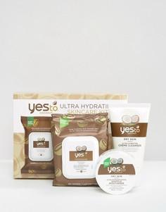Набор ультраувлажняющих средств по уходу за кожей с кокосом Yes To - СКИДКА 20 - Бесцветный