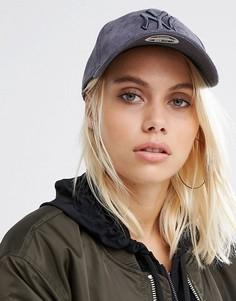 Серая замшевая кепка New Era 9 Forty - Серый
