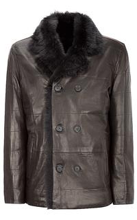 куртка из натуральной кожи на подкладке из овчины Vericci