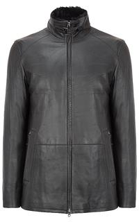 куртка из натуральной кожи на подкладке из овчины Al Franco