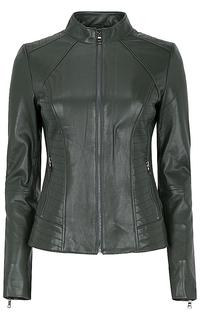 Кожаная куртка-жакет на молнии La Reine Blanche