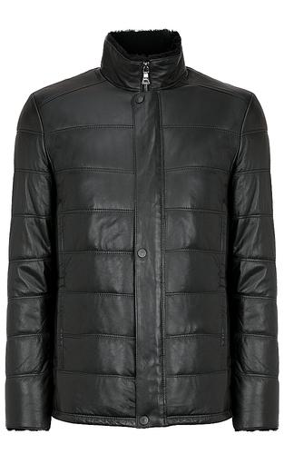 кожаная куртка, утепленная овчиной