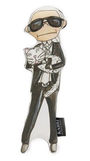Маленькая кукла в виде Карла Лагерфельда Kahri