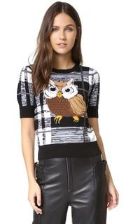 Свитер-пуловер Katherine с изображением совы Alice + Olivia