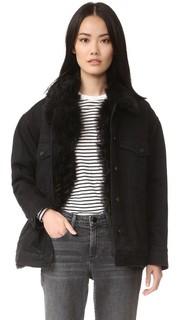 Куртка из денима в стиле «бойфренд» с меховой подкладкой Alexander Wang