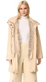 Практичное пальто на меховой подкладке Helmut Lang