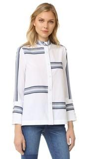 Рубашка на пуговицах с расклешенными рукавами Derek Lam 10 Crosby