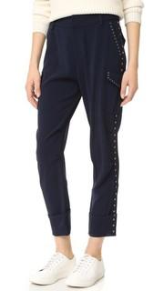 Легкие брюки-карго с люверсами Derek Lam 10 Crosby
