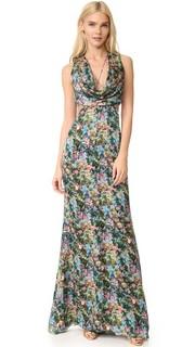 Вечернее платье с драпированным воротником-хомутом Cushnie Et Ochs