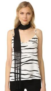Узкий прямоугольный шарф с бахромой Diane von Furstenberg