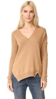 Рубчатый свитер с V-образным вырезом Dsquared2