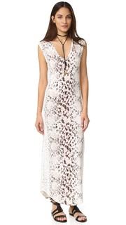Макси-платье с V-образным вырезом Haute Hippie