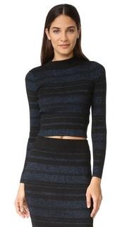 Полосатый свитер с длинными рукавами Kendall + Kylie