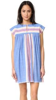 Короткое платье в стиле восточного халата Elsi Lemlem