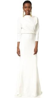 Вечернее платье с длинными рукавами Badgley Mischka Collection