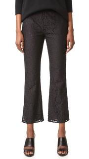 Расклешенные укороченные брюки из кружева Jenni Kayne