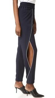 Классические брюки из крепа с разрезами сбоку Jonathan Simkhai