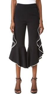 Классические укороченные брюки с оборками Jonathan Simkhai