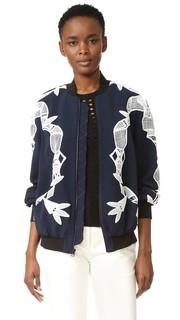 Куртка-бомбер с аппликацией Jonathan Simkhai