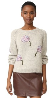 Пуловер с цветочным рисунком в технике интарсия La Vie Rebecca Taylor