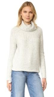 Пуловер с рубчатой кокеткой и завязками Madewell