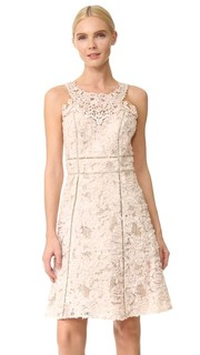 Текстурированное коктейльное платье Marchesa Notte