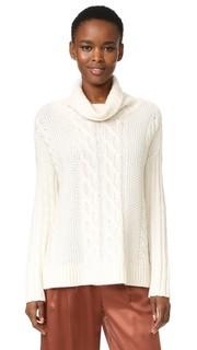 Кашемировый свитер-пончо с длинными рукавами TSE Cashmere