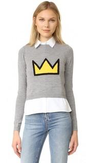 AO x Basquiat Nikia Crown Pullover Alice + Olivia