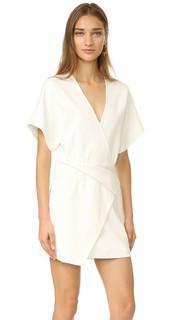 Платье-халат с глубоким V-образным вырезом Halston Heritage