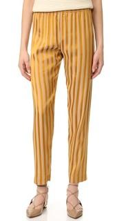 Атласные брюки в полоску Giada Forte