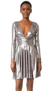 Драпированное платье с металлизированной отделкой Halston Heritage