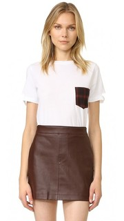 Plaid Pocket Tee Helmut Lang